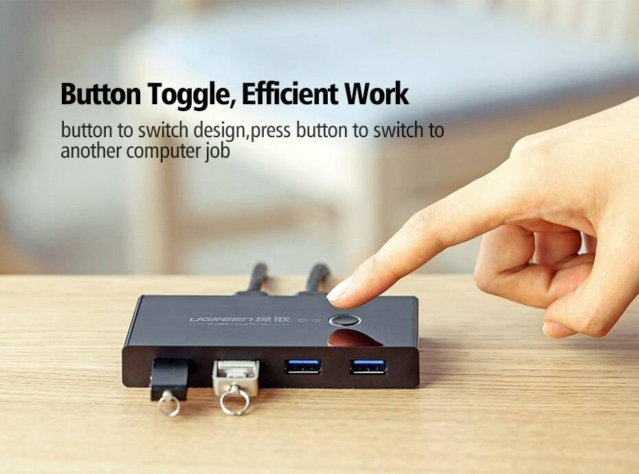 USB 3.0 2 Ports Switching Box