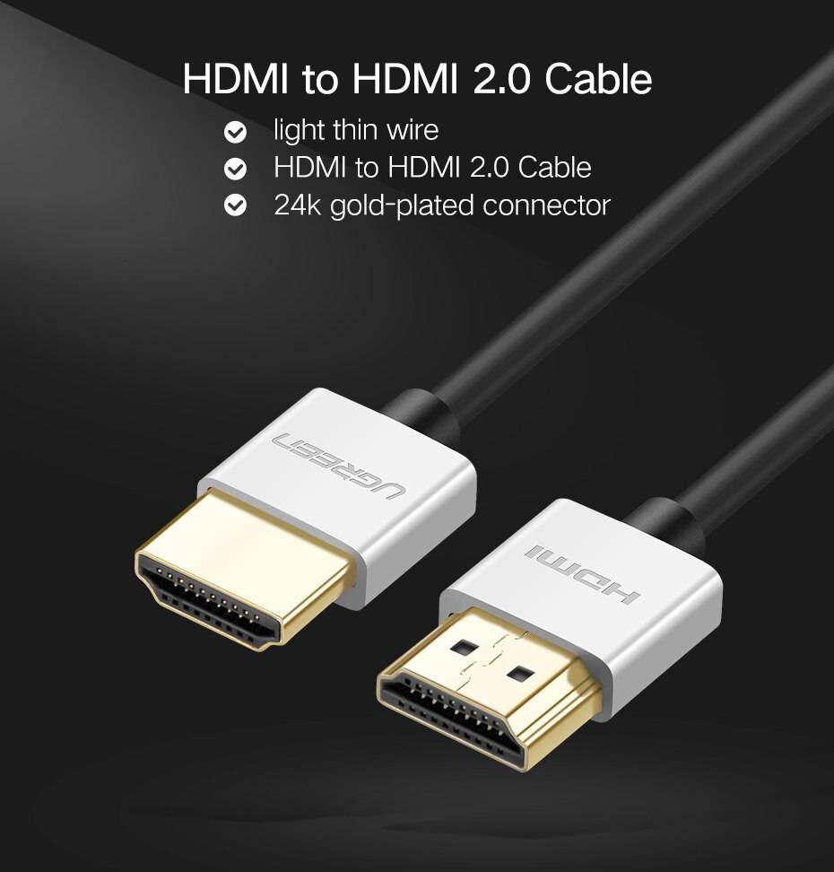 4K Slim HDMI to HDMI 2.0 Cable