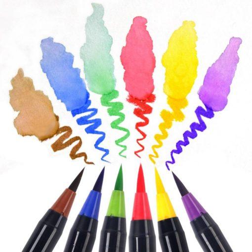 20 Colors Watercolor Effect Art Markers Set Art & Home Decor Housewares