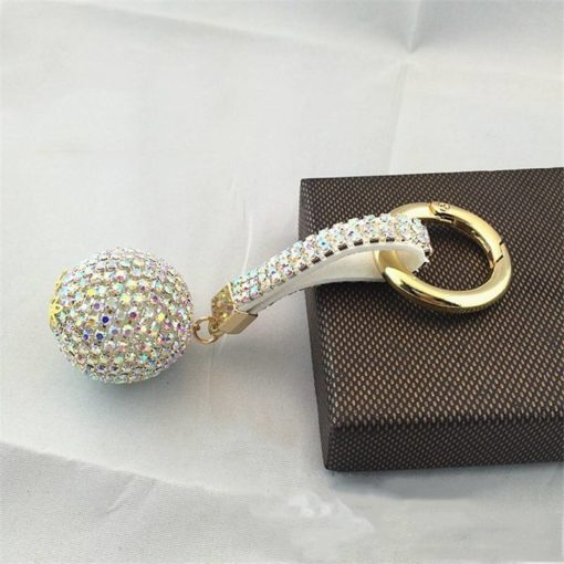 Glitter Keychain with Rhinestones Budget Friendly Gifts