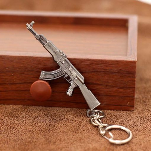 Silver Plated Weapon Keychain Budget Friendly Gifts