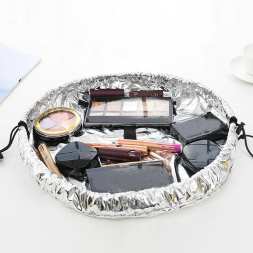 Convenient Compact Foldable Leather Travel Cosmetic Bag Budget Friendly Gifts