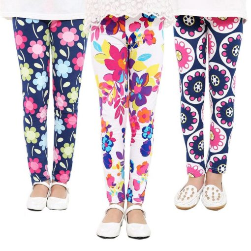 Girl's Bright Polyester Pants with Elastic Waist Weekly Featured Products