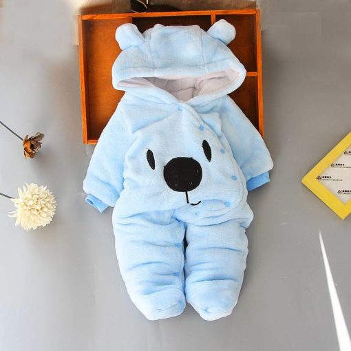 Baby Kid's Soft Warm Cotton Hooded Rompers Weekly Featured Products