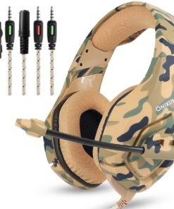 Camouflage Printed Headphones with Microphone Cool Tech Gifts