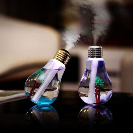 Bulb Shaped Air Humidifier with LED Night Light Cool Tech Gifts