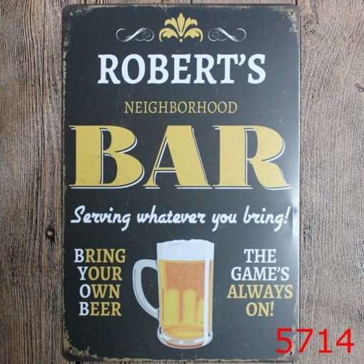 Metal Tin Sign for Bar Decor Latest On Sale