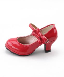 Kid's Heelled Shoes with Bow Shoes Kids Shoes