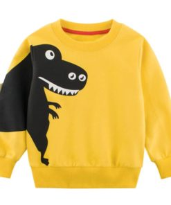 Boys' Long Sleeved Animal Printed T-Shirt Sweaters Children's Boy Clothing