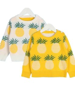 Pineapples Printed Sweater for Kids Sweaters Children's Boy Clothing