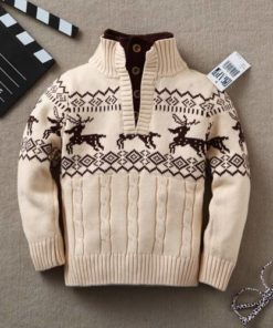 Fashion Warm Turtleneck Cotton Boy's Sweater Sweaters Children's Boy Clothing