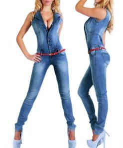 Women's Sleeveless Denim Jumpsuit Jumpsuits Women's Women's Clothing