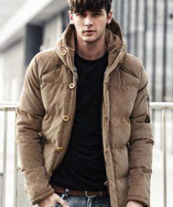 Stylish Windproof Padded Cotton Men's Parka Jacket Jackets & Coats Men's Men's Clothing