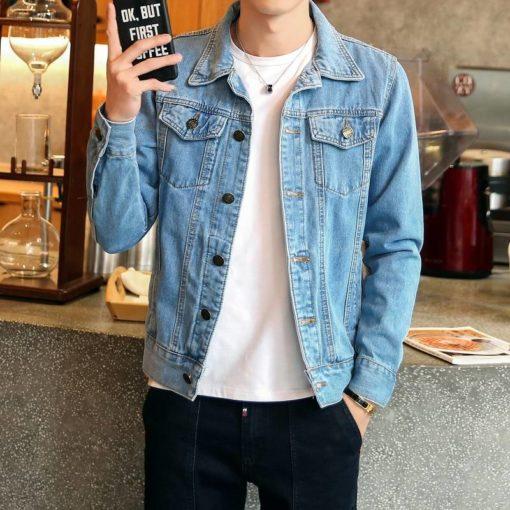 Men's Casual Slim Denim Jacket Jackets & Coats Men's Men's Clothing
