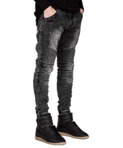 Men's Slim Stylish Biker Jeans Jeans Men's Men's Clothing