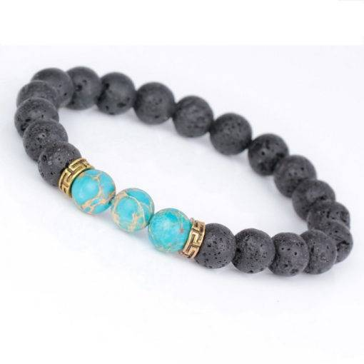 Men's Rhinestone Reiki Prayer Stones Charm Bracelet Budget Friendly Accessories