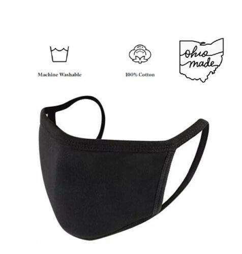 Black Double Layer Reusable & Washable Cotton Face Mask