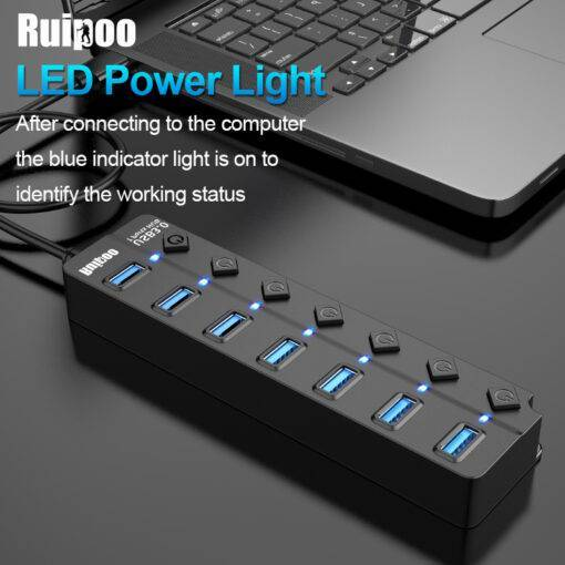 USB Hub Splitter 3.0 High Speed 4 / 7 Port Cool Tech Gadgets